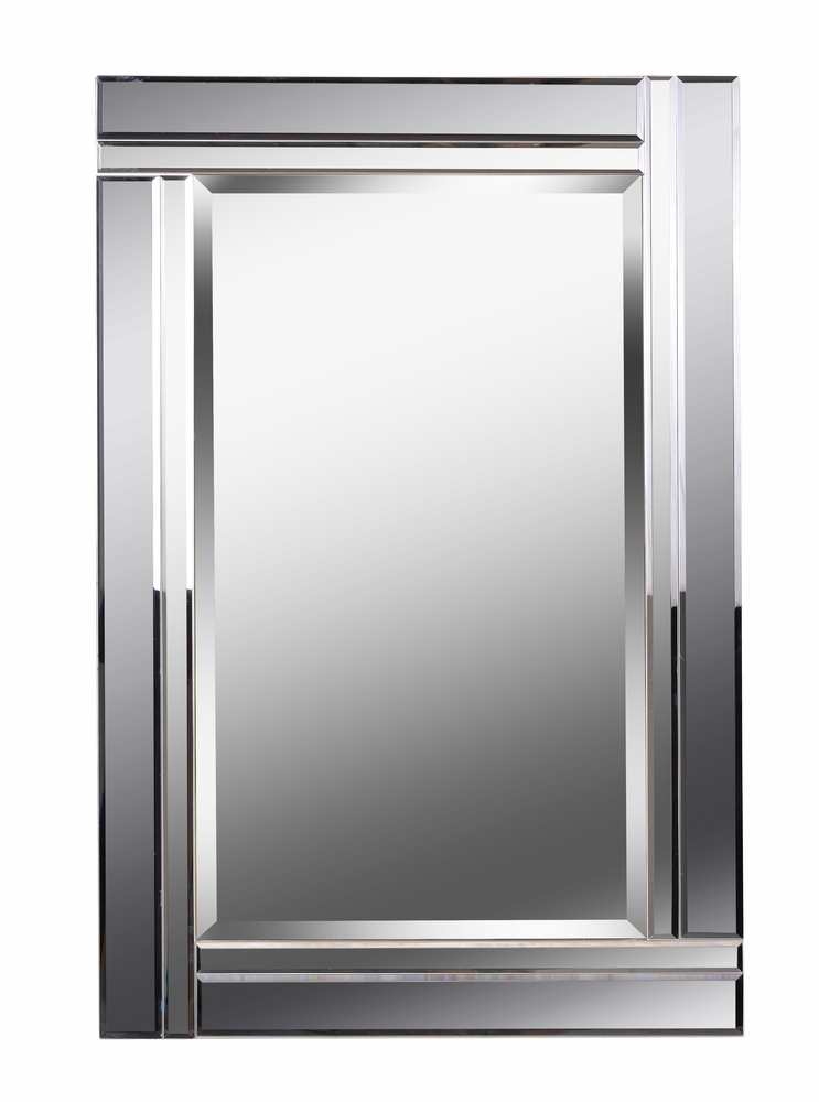 Mirror With Beveled Smoke And Plain Mirror Frame 9l5hf Accent